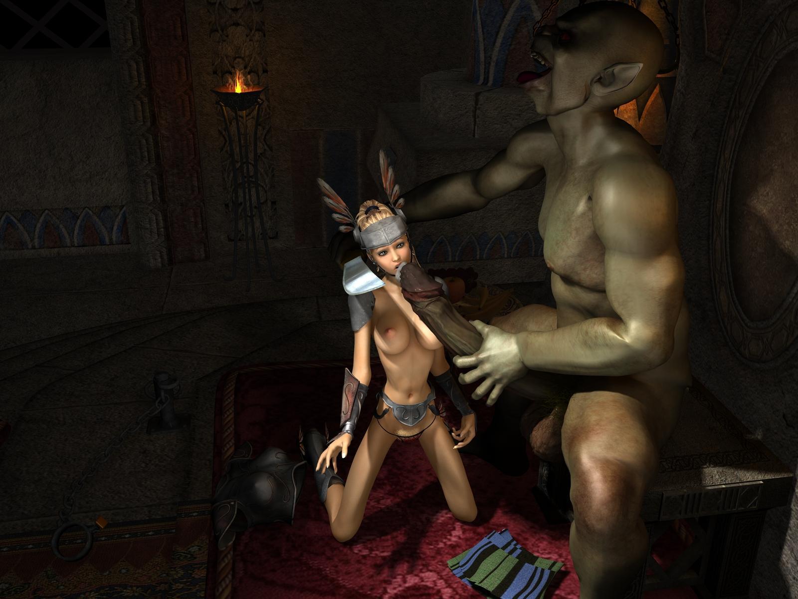 Orcs vs dark elf porn vid full  pron pic