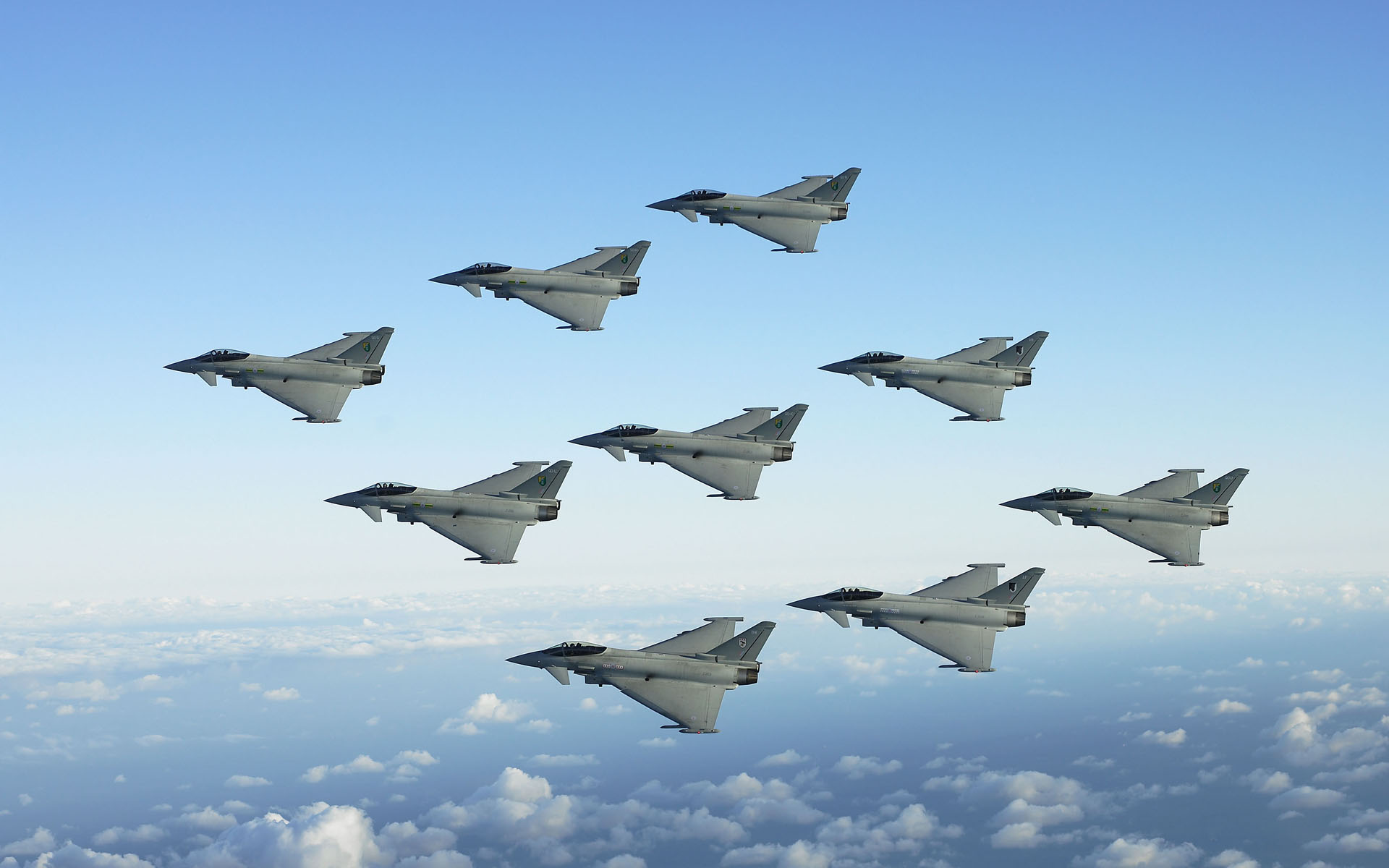 jet fighters formation wide
